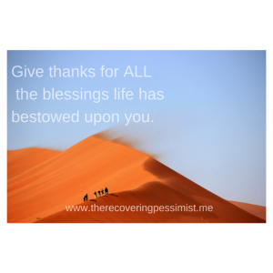 The Recovering Pessimist: Wisdom Wednesday #97 -- Always be thankful. | www.therecoveringpessimist.me #amwriting #recoveringpessimist