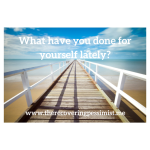 Wisdom Wednesday #85 -- Make time for yourself to avoid burnout. | www.therecoveringpessimist.me #amwriting #recoveringpessimist